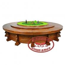 豪华电动餐桌HHCZ-DD06(非洲黄花梨)