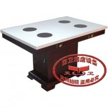 实木大理石火锅桌HGZ-M71