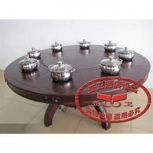 实木大理石火锅桌HGZ-M73