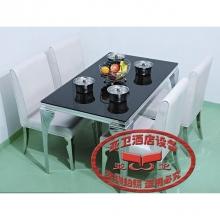 导磁玻璃火锅桌HGZ-D11