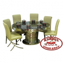 导磁玻璃火锅桌17