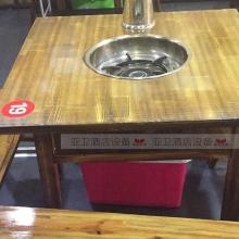 碳烧烤木餐桌椅系列-TSMCY13