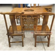 碳烧烤木餐桌椅系列-TSMCY02