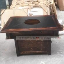 碳烧烤木餐桌椅系列-TSMCY10