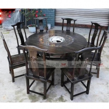 碳烧烤木餐桌椅系列-TSMCY11