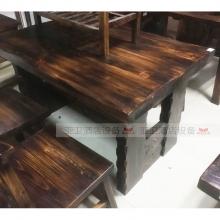 碳烧烤木餐桌椅系列-TSMCY06