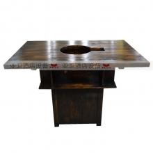 碳烧烤木餐桌椅系列-TSMCY25