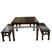 碳烧烤木餐桌椅系列-TSMCY28