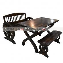 碳烧烤木餐桌椅系列-TSMCY33