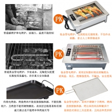 A4-5家用 商用 台嵌两用黑金钢管烧烤炉
